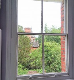 Draught proofed sash window in Kent